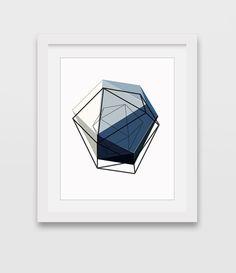 Printable Art, Minimalist Art Print, Geometric Art, Modern Blue Print, Blue Art, Abstract Print, Blue Wall Art, Downloadable Print, Wall Art
