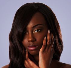 Beautiful face of an attractive African black woman with almond shaped eyes and long wavy hair and hands in her face, isolated. Photo by Paul Hakimata on Mostphotos. Hair Questions, Curly Hair Styles, Natural Hair Styles, Types Of Hair Extensions, Almond Shaped Eyes, Indian Human Hair, Black Hair Care, Long Wavy Hair, Hair Weft
