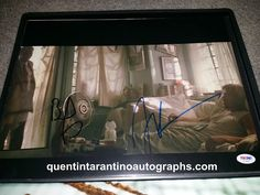 My Quentin Tarantino Autograph Collection: Brad Pitt and James Gandolfini of True Romance! Au...
