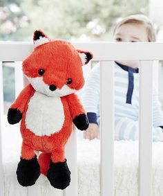 This cuddly plush friend snuggles in with your little one and lulls them to sleep with four different soothing sounds