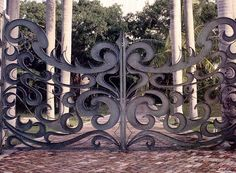 Image detail for -Iron gate openers - wood and iron doors