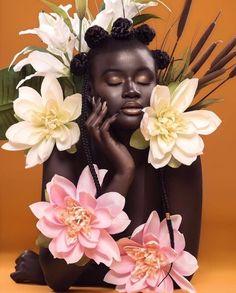 Mar 9 2020 - Afrofuturism Tribal Photos and interrupted Black Identity beauty photoshoot Afrofuturism and Interru. Black Girl Aesthetic, My Black Is Beautiful, Grafik Design, Black Girl Magic, Black Girls, Black Art, Black Pantha, Art Reference, Illustration