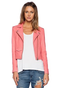 IRO Ashville Jacket in Coral Pink