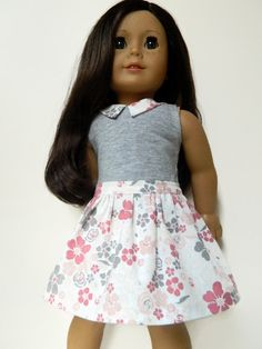 American Girl Doll Clothes Lightweight Grey Knit by 18Boutique