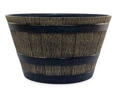 Whiskey Barrel Resin Planter 2 Pack Patio Resin