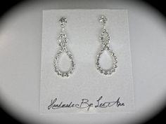 Rhinestone infinity earrings // Bridal jewelry // Brides earrings // Infinity // Love // Forever // Bridesmaids // Wedding jewelry // Gift on Etsy, $27.99