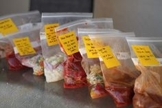 Here is Part 3 of my freezer cooking. This week's menu includes: Colorado Beef Burritos Thai Chicken Wings with Peanut Sauce Loaded Baked Potato Soup Meatball Beef Stroganoff Pork Tenderloin with Apple Cranberry Sauce Taco Chili You can find Part 1 and Part 2 here: Crockpot Freezer Cooking Part 1 Crockpot Freezer Cooking Part …