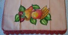 Resultado de imagem para panos de prato pintados