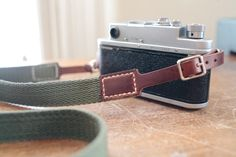 Classic leather camera strap classic olive and by northernstrap, $40.00