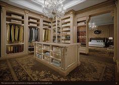 Gorgeous detail in this walk in master wardrobe
