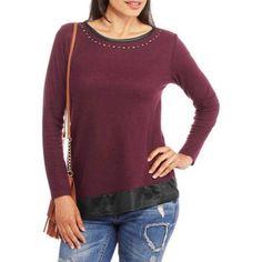 French Laundry Women's Asymmetrical Hem Tunic, Size: Large, Red