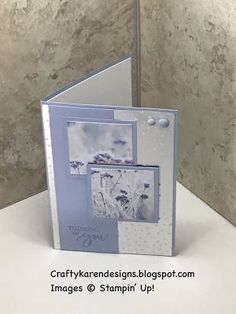 craftykarendesigns: Feels Like Frost Thinking of You Card Stamped Christmas Cards, Stampin Up Christmas, Snowflake Cards, Stamping Up Cards, Unique Cards, Nouvel An, Winter Cards, Sympathy Cards, Paper Cards
