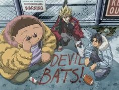 Original Devil Bats! Kurita, Hiruma, and Musashi from Eyeshield 21