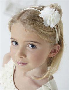 #Diadema flor de gasa para niña con diferentes #colores