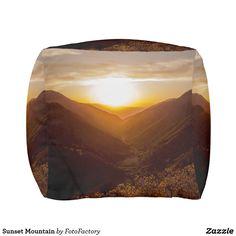 Sunset Mountain Pouf