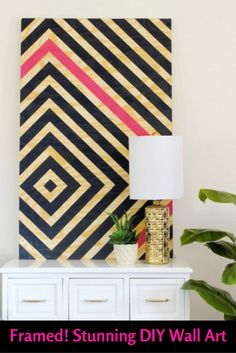 We've been framed! Well, our favorite DIY wall art ideas have. From unique modern pieces to simple DIYs, these ideas are definitely eye-catching!