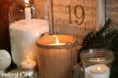 Finding Home Christmas Mantel Candle