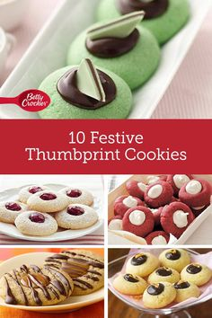 With an endless variety of filling and flavor combinations, its easy to understand why thumbprint cookies are some of our favorites! From red velvet to chocolate-mint to raspberry, theres bound to be a recipe in this mix youll love! Cookie Desserts, Cookie Recipes, Dessert Recipes, Cheap Clean Eating, Clean Eating Snacks, Christmas Cooking, Christmas Desserts, Salty Cake, Thumbprint Cookies