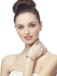 18K Rose Gold Plated Pave Cuff Bracelet http://www.dessy.com/accessories/rose-gold-plated-pave-cuff-bracelet/