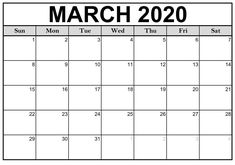 Get Editable March 2020 Calendar Word PDF Template in Portrait and Landscape. Check also Printable March Calendar 2020 With Holidays and Notes Calendar. March Calendar Printable, Free Printable Calendar Templates, December Calendar, Monthly Calendar Template, Kids Calendar, 2021 Calendar, Monthly Calendars, Free Calendar, Printables