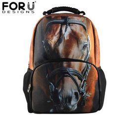 3D Animal Felt Backpack Men's Backpack
