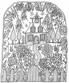 Little House by WelshPixie (print image) Coloring Book Pages, Printable Coloring Pages, Coloring Sheets, Doodle Coloring, Free Coloring, Art Graphique, Digi Stamps, Colorful Pictures, Zentangles