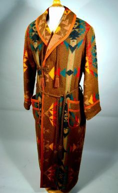 1920's Vintage Antique PENDLETON CAYUSE Trade Blanket Robe_Copyright ...