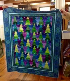 Adding a border to Janet C's quilt really made it pop!  She used Jinny's Bedfordshire border