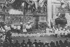 Pope St. Pius X offering the Holy Sacrifice of the Mass.