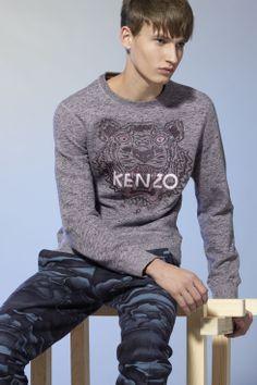 Sweatshirt tête de tigre Kenzo - Icônes Kenzo Homme - E-Shop Kenzo