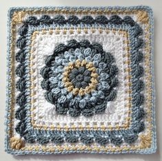 Floral Dimension Afghan Square by Laurie Dale