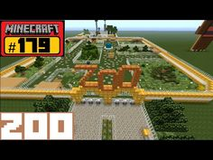 Minecraft Let's Build – ZOO Minecity - Young. Video Minecraft, Minecraft Shops, Minecraft Mansion, Minecraft Plans, Amazing Minecraft, Minecraft Tutorial, Minecraft Blueprints, Youtube Minecraft, Minecraft Modern City