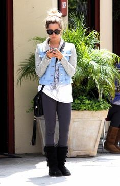 ashley tisdale..she always has cute clothes on
