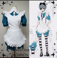 Ciel Phantomhive Cosplay Maid outfit from Ciel in Wonderland Kuroshitsuji---I really really want to make this!!