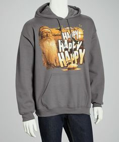 Take a look at this Charcoal 'Happy Happy Happy' Hoodie - Men by Club Red on #zulily today!