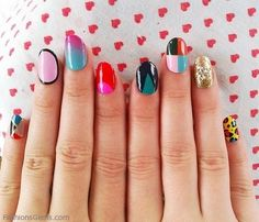 www.FashionsGems.com Summer NAIL ART Ideas Designs Paints for Girls Fashion Website, for more latest ideas visit our website www.FashionsGems.com