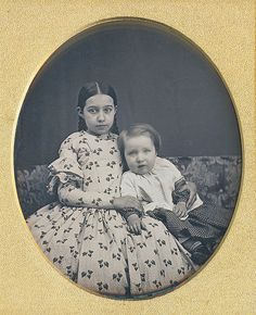 "daguerreotypeimages: "" Brother and sister daguerreotype, late 1840s (via Dennis A. Waters Fine Daguerreotypes) """