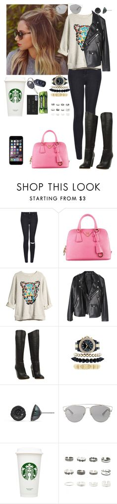 """now i don't understand it"" by dearme-xoxo on Polyvore featuring moda, Topshop, Prada, H&M, Rupert Sanderson, Pearl & Black, Christian Dior e Retrò"