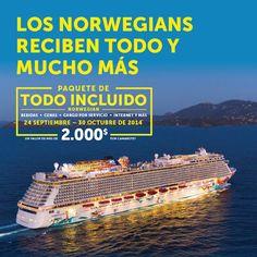 ¡Nuevo paquete de Todo Incluido en #NorwegianCruiseLine!