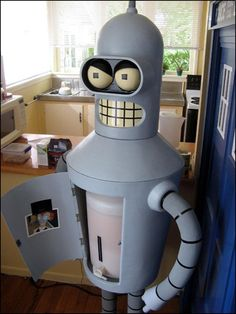 Futurama  Bender Water Cooler - i love the attention to detail, the photo taped to the inside of him is perfect.