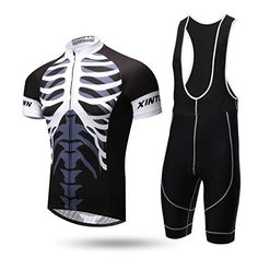 Spoz Men Skeleton Cycling Gel Pad Bid Jersey Set M >>> You can find out more details at the link of the image.Note:It is affiliate link to Amazon.