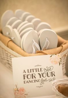 A lovely idea for those tired feet..kick off those heels and party  www.donnacrain.com for all bridal accessories X