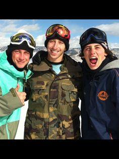 Craig mcmorris, jack mitrani, and mark mcmorris Mark Mcmorris, Skiers, Mark Lee, Beautiful Boys, Snowboarding, Champs, My Idol, Olympics, Movie Tv