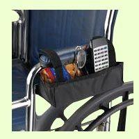 Sammons Wheelchair Armrest Nylon Pocket Bag: This compact nylon pocket attaches under standard or desk length wheelchair armrests.