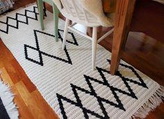Pirjon kädenjälkiä: crocheted rug.