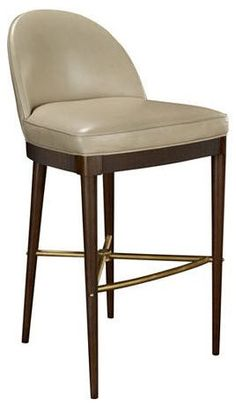 hickory chair Laurent Bar Stool upholstered in fine German leather