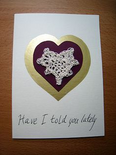 How to Make a Crochet and Paper Valentine Card
