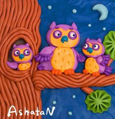 Plasticine Pictures on Behance School Art Projects, Clay Projects, Clay Crafts, Projects For Kids, Crafts For Kids, Boarder Designs, Polymer Clay Kunst, Clay Birds, Clay Paint