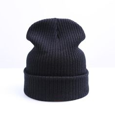 Unisex Warm Hat Knitted Simple Warm Soft Cap Beanies 61ebc95f197b