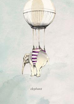 Kareena Zerefos es una ilustradora australiana pero que vive y trabaja en Londres. Está graduada en Bellas Artes y además de ilustradora también es diseñadora gráfica. Para sus trabajos suele emplear todo tipo de materiales, grafito, rotuladores, tinta etc combinando el dibujo tradicional con técnicas más modernas. ¡¡¡Me encanta la del elefante¡¡¡